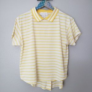 Vintage Mervyn's High Low Striped Top size small